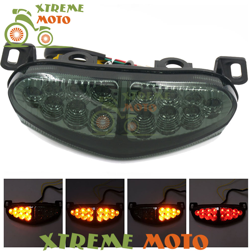 High Quality Motorcycle LED Rear Turn Signal Tail Stop Light Lamp Integrated For Kawasaki ER6N ER6F