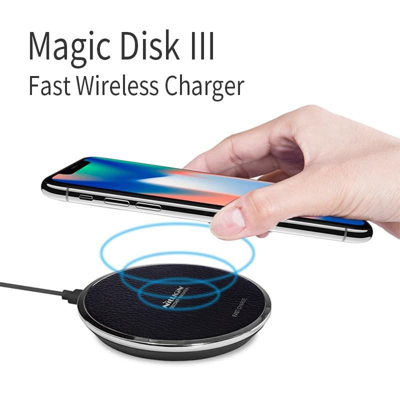 10 w Veloce Qi Wireless Charger Pad NILLKIN per iPhone X/8/8 Plus per Samsung Nota 8 /S8/S8 Più Il qi wireless caricatore portatile di potere