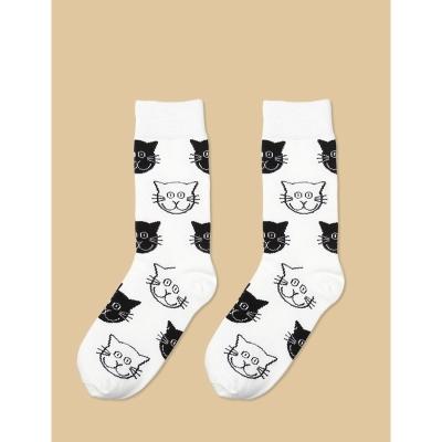 Women's Cats Printed High Socks