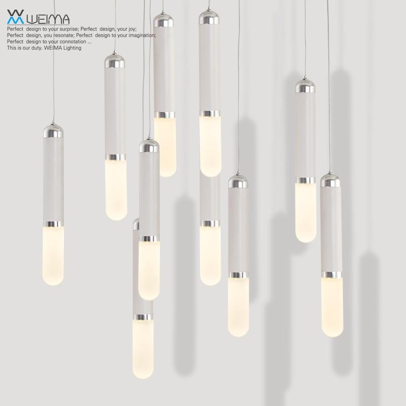 ФОТО Modern Nordic Single-end Glass Rod Led Metal Pendant Lights Lamp Cafe Balcony Bedside Dinning Room Lamp Pendant Lighting Fixture