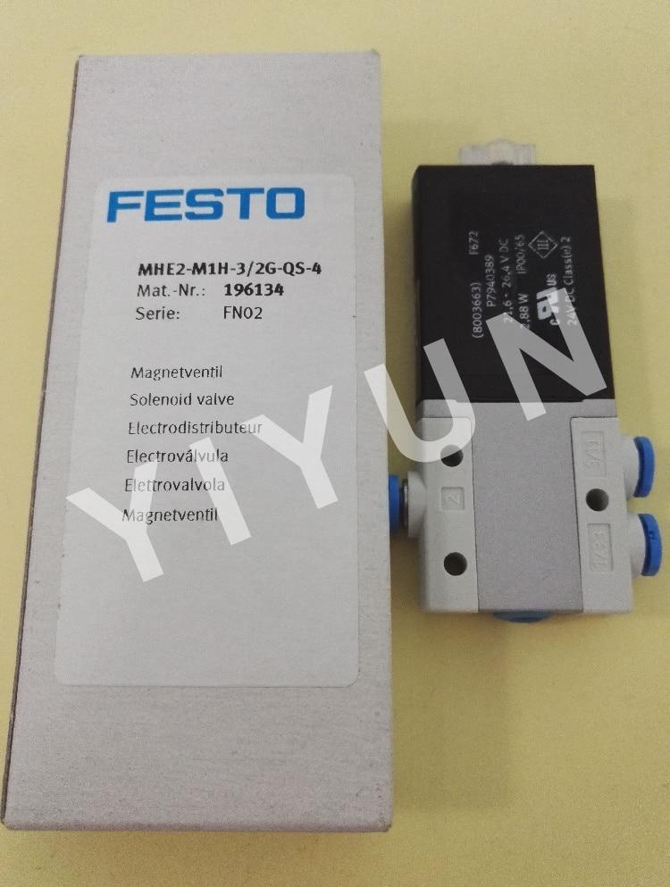 MHE2-M1H-3/2G-QS-4 196134 MHE2-M1H-3/2O-QS-4 196154 MHE2-MS1H-3/2G-QS-4 196135 MHE4-MS1H-3/2G-1/4 525187 FESTO Solenoid valve [sa] genuine original special sales festo solenoid valve cpa10 m1h 5js spot 173450 2pcs lot