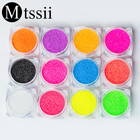 Mtssii New 3D 1 Box Holographic Nail Glitter Powder Shining Sugar Nail Glitter Dust Powder Nail Art Decorations Mermaid Effect