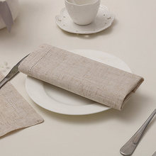 12PCS White Hemstitched Napkins Cocktail Napkin For Party Wedding Table Cloth Linen Napkins Cotton Napkins 4 Size Available