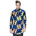 Мода мужская dashiki одежда мужская африканский рубашки личное длинным рукавом на заказ печати африке clothing for festival