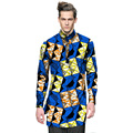 Fashion mens dashiki clothes mens african shirt personal long sleeve tops custom made print africa clothing for festival