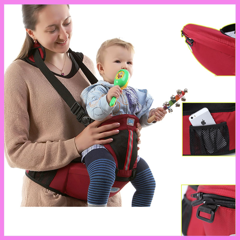 Multi-function Baby Breathable Waist Stool Hipseat Ergonomic Baby Backpack Carrier Both Shoulder Front Facing Baby Carrier Sling