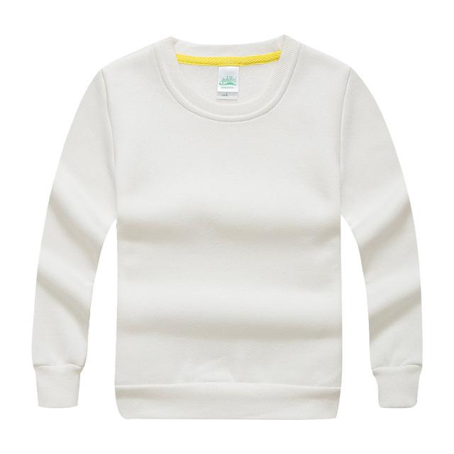 Llano básico blanco casual niños niñas suéter con capucha niños sudaderas con capucha calientes 2017 unisex niños clothing 2 to11 años akh165006