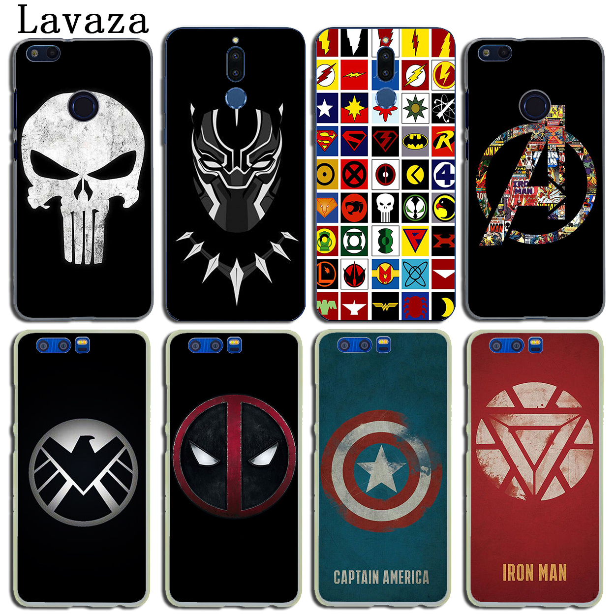 <font><b>Marvel</b></font> Super hero logo <font><b>Case</b></font> for <font><b>Huawei</b></font> Y9 <font><b>Y7</b></font> Y6 Prime <font><b>2019</b></font> 2018 Nova 5I 4 3i 3 2i Honor 20 10 8X 8C 8 9X 9 Lite 6C 7C 7X 7A Pro image