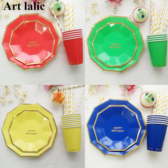 8pcs/set New arrival colorful birthday party paper plate 7 inch/9inch printing round  sc 1 st  AliExpress.com & 8pcs/set New arrival colorful birthday party paper plate 7 inch ...