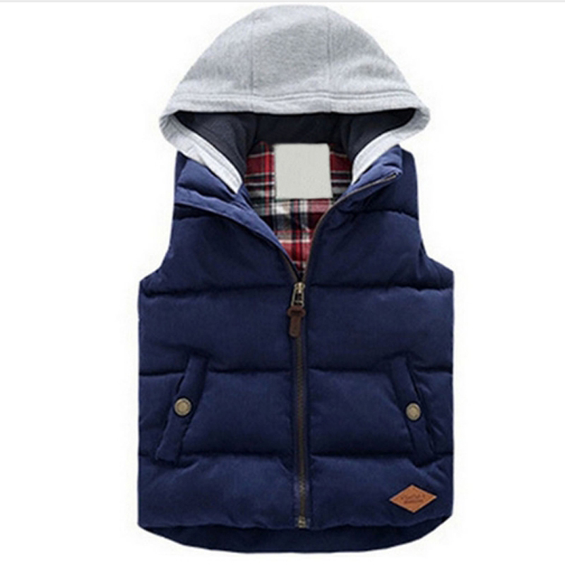 2019 Vests Children Hoodies Warm Jacket Baby Girls Outerwear Coats Kids Vest Boys Hooded Jackets Autumn Winter Thicken Waistcoat