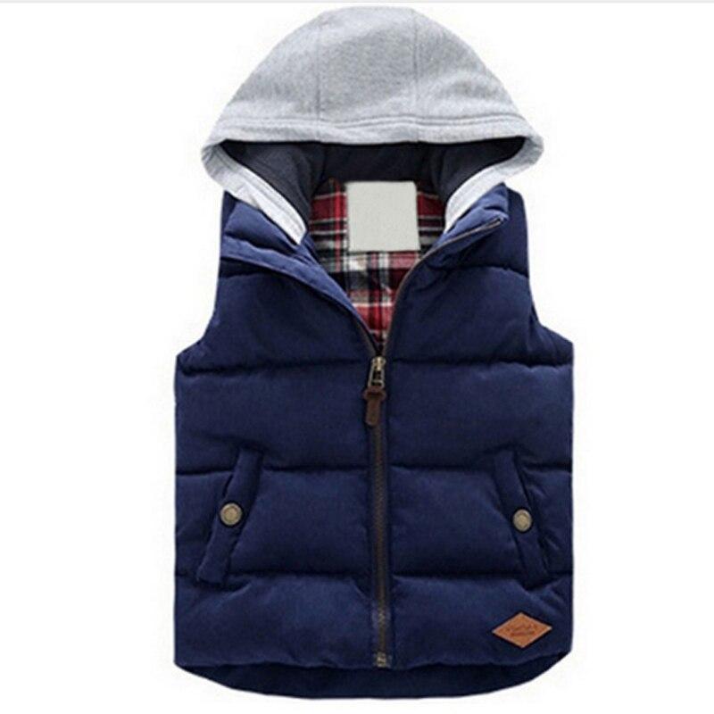 2019 Vests Children Hoodies Warm Jacket Baby Girls Outerwear Coats Kids Vest Boys Hooded Jackets Autumn Winter Thicken Waistcoat