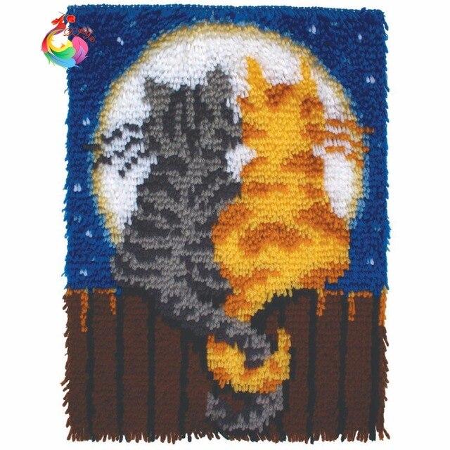 Cartoon Car Latch Hook Rug Kits Crochet Embroidery Kids Room Carpet Wool For Felting Carpets