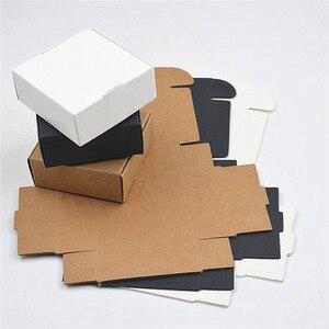Image 4 - 2000 шт./лот, Размер 9*8,6*1,6 см, коробки из белой бумаги для упаковки, черная крафт коробка, бумажные карты, коричневые коробки из крафт бумаги, подарочная коробка