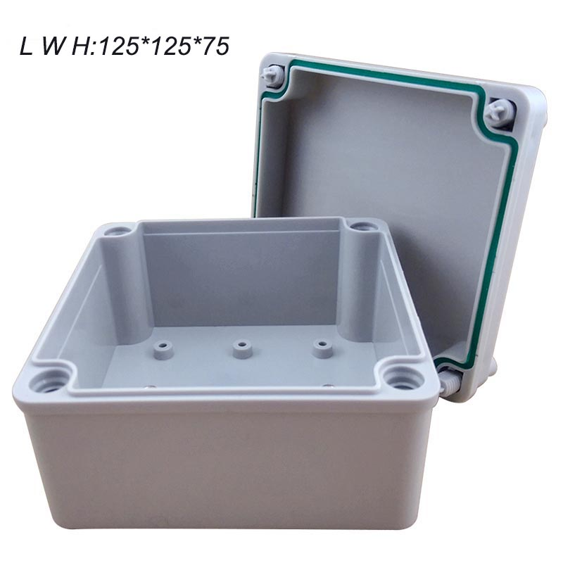 цена на 125*125*75mm 1 pcs project box plastic desk-top electronic DIY Enclosure Instrument Case waterproof IP67 housing case