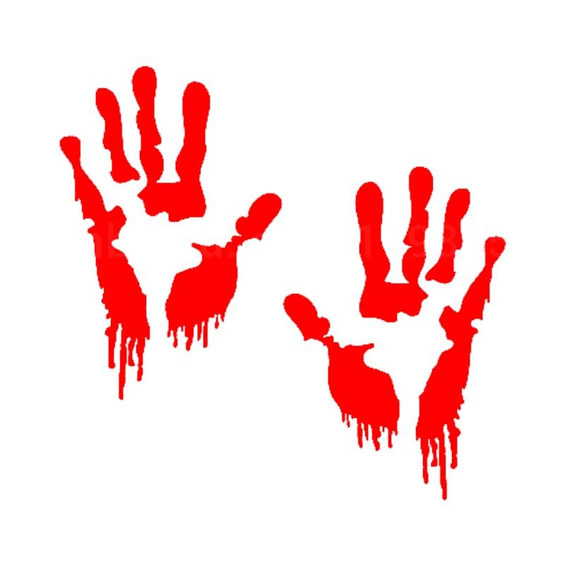 HotMeiNi 15 * 10 cm nálepka do auta Bloody Zombie Hand cartoon Oem auto okno karoserie vinyl obtisky černá / stříbrná atd. 13 barev