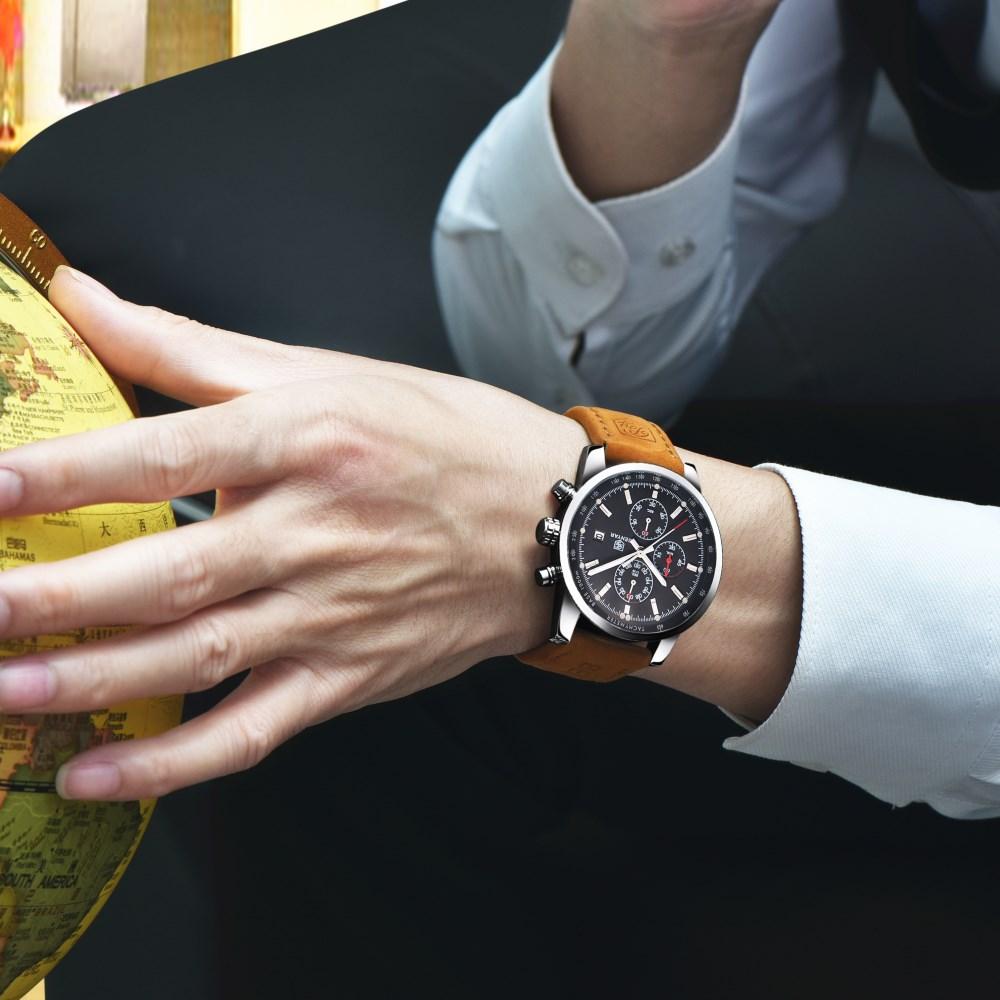 BENYAR Quartz Watch Män Sport Herrkläder Topp Märke Luxury - Herrklockor - Foto 5