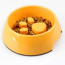 Меламиновая водяная миска для домашних животных медленное поедание для кормления питьевой диспенсер Фонтан для кошек Perro Comedero питатель для домашних животных 50A0470