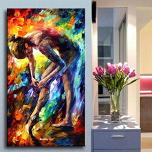 Large home decoration Hand painted Sexy nude oil painting modern Figure Oil Painting on Canvas Knife Wall