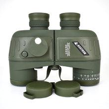 10X50 Optics Binocularทหารกล้องโทรทรรศน์กันน้ำกันกระแทกSpottingขอบเขตกับเข็มทิศสำหรับCamping Hunting Boshiren