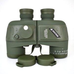 Image 1 - 10X50 Optics Militaire Verrekijker Telescoop Waterdicht Schokbestendig Spotting Scope Met Kompas Voor Camping Reizen Jacht Boshiren