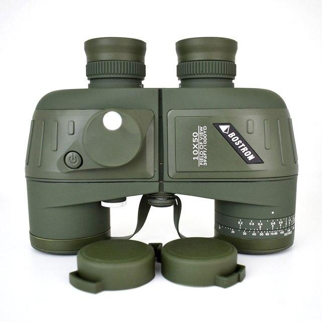 10X50 Optics Militaire Verrekijker Telescoop Waterdicht Schokbestendig Spotting Scope Met Kompas Voor Camping Reizen Jacht Boshiren