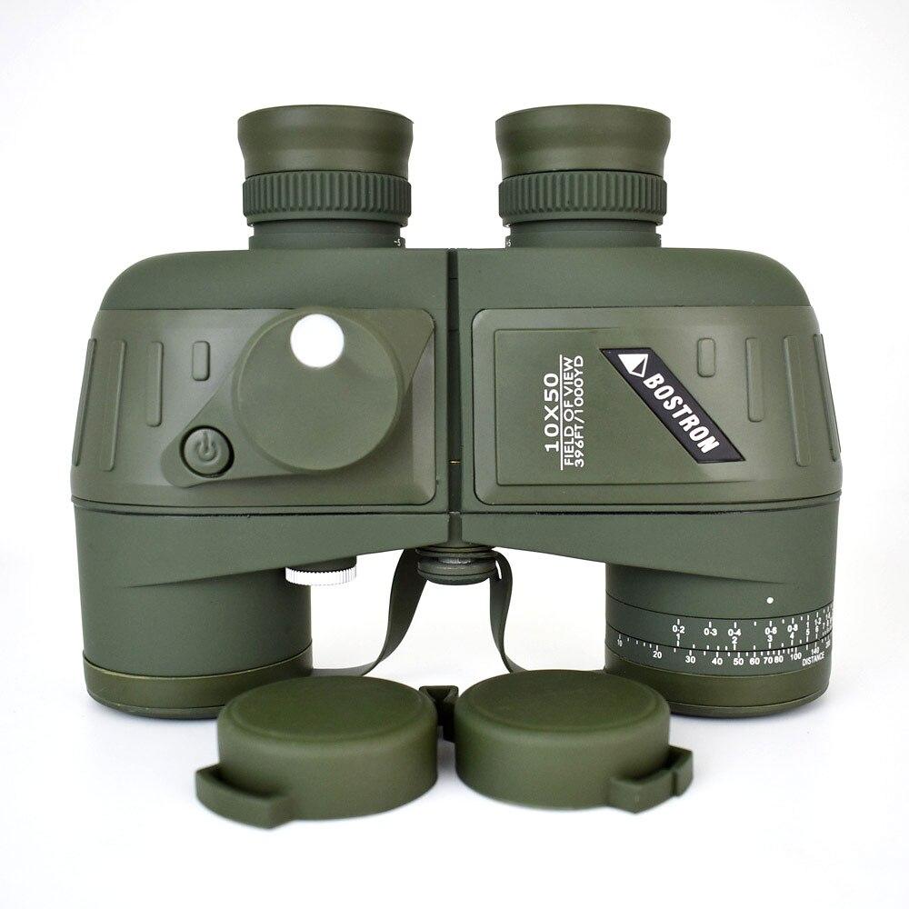 10X50 optique militaire télescope binoculaire étanche antichoc longue portée avec boussole pour camping voyage chasse boshiren