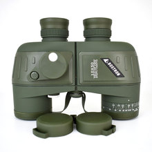 Telescopio Binocular militar óptico 10X50, impermeable, a prueba de golpes, con brújula para acampar, viajes, caza, Boshiren