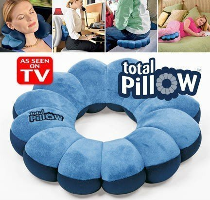 Total Pillow portable on luggage for multi-functional rest lumbar support seat cushion TV Item