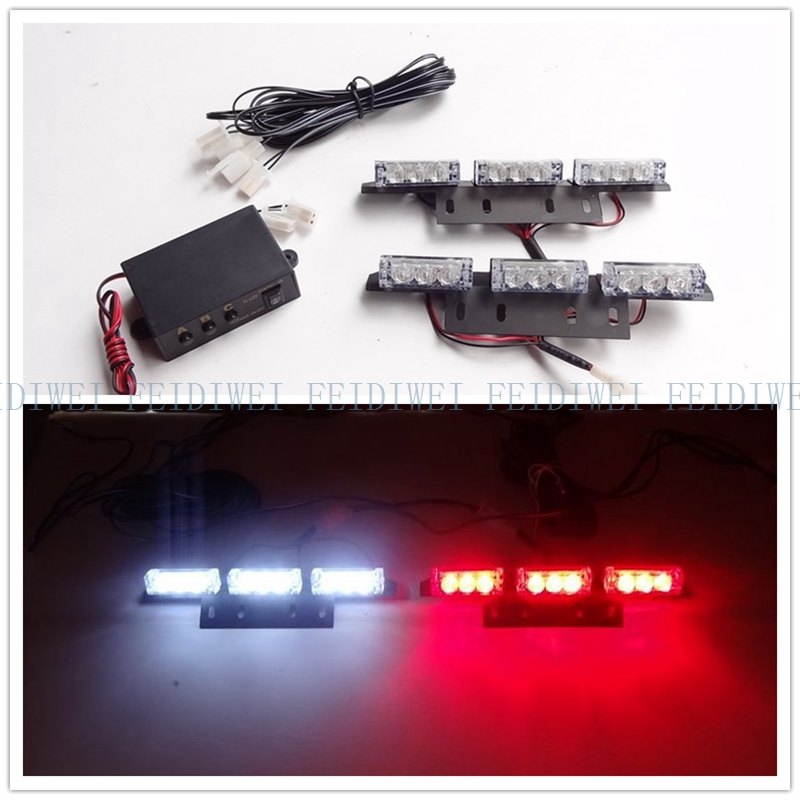 03026 2*9 2X9LED 18 LED Warning Blinking Strobe Flash Lights/Lightbars for Deck Dash Grille LED EMERGENCY STROBE LIGHTS DC 12V