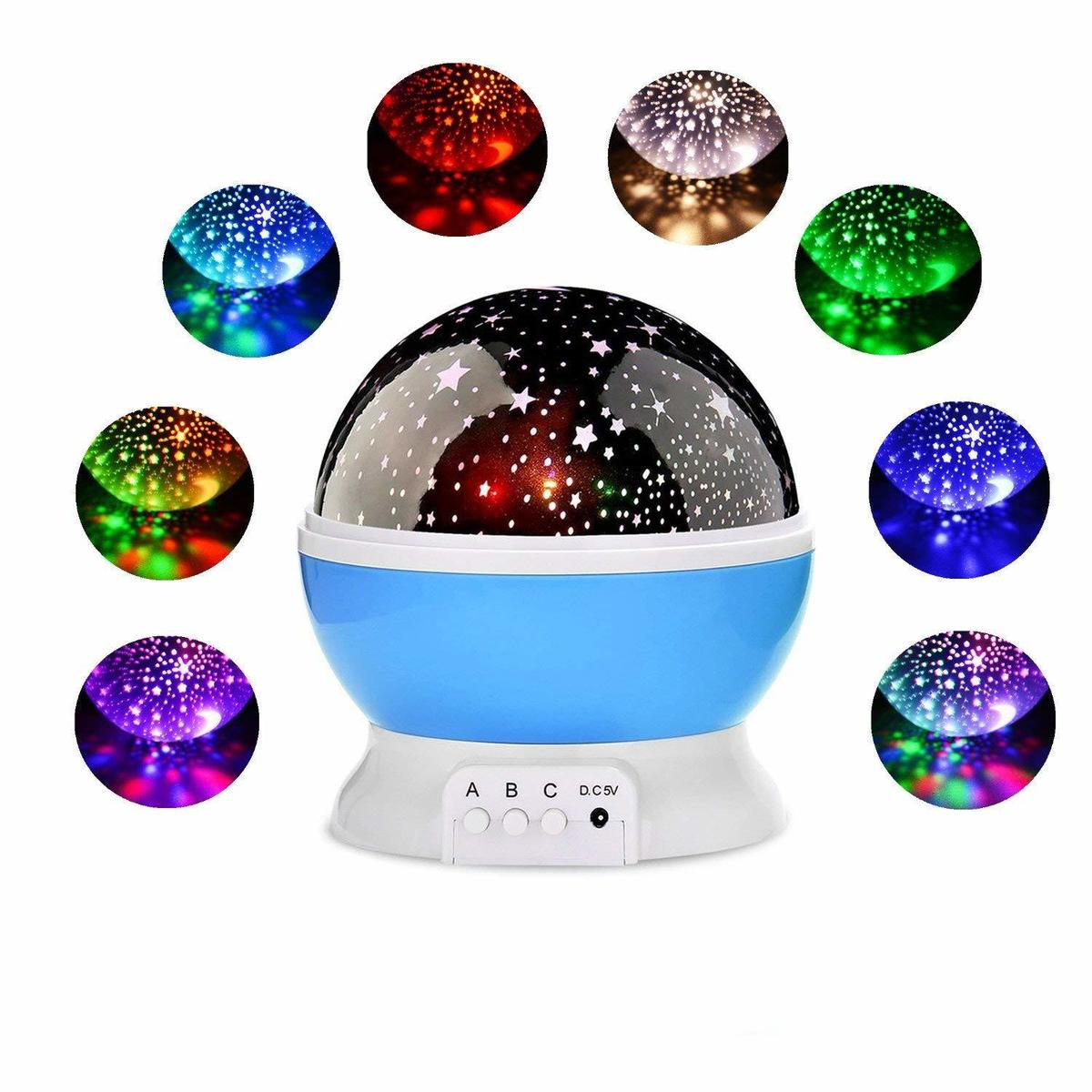 Star Sky Night Light LED Rotating Projector Novelty Lighting Kids Baby Nursery Battery Operated Romantic Moon Cosmos Lamp Gift