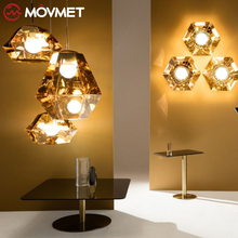 Nordic Led Pendant Light Creative Personality Modern Glass Ball Pendant Lamp Bar Bedroom Bedside Living Room Hanging Lamp postmodern magic bean lamps pendant light nordic modern brief dna lamp creative iron glass hanging lamp glass ball lustre mudou