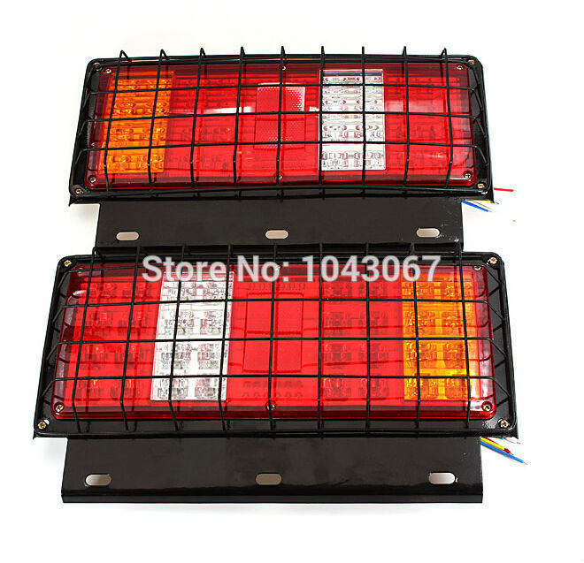 Dongzhen 2pcs 2015 New 12v LED Stop Tail Lamps Lights For