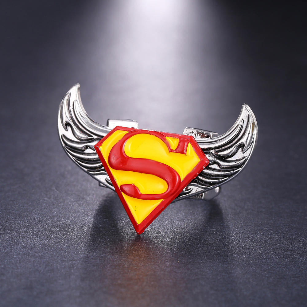 Movie the avengers mens ring men superman pattern personal unique movie the avengers mens ring men superman pattern personal unique bague angel wings rotatable pattern fashion great anillos in rings from jewelry buycottarizona Gallery