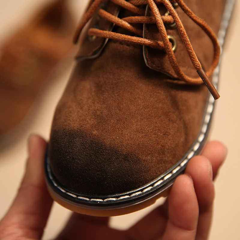 Primavera otoño niños zapatos de cuero PU zapatos Sprot zapatos zapatillas niños Retro Martin Boot bebé niños zapatos Casuales