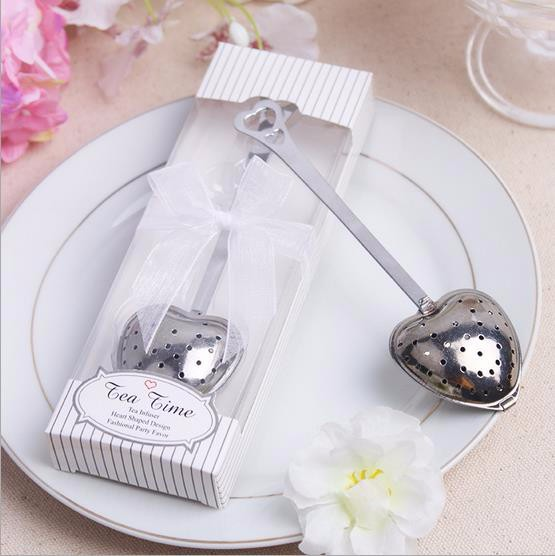 15 Set Heart Shaped Tea Time Stainless Steel Infuser Party Favors Wedding Souvenirs Lembrancinha De Casamento