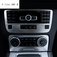 For Mercedes Benz GLK class X204 Interior Trim Air conditioning CD Control Panel Car Styling Stickers covers Auto accessories