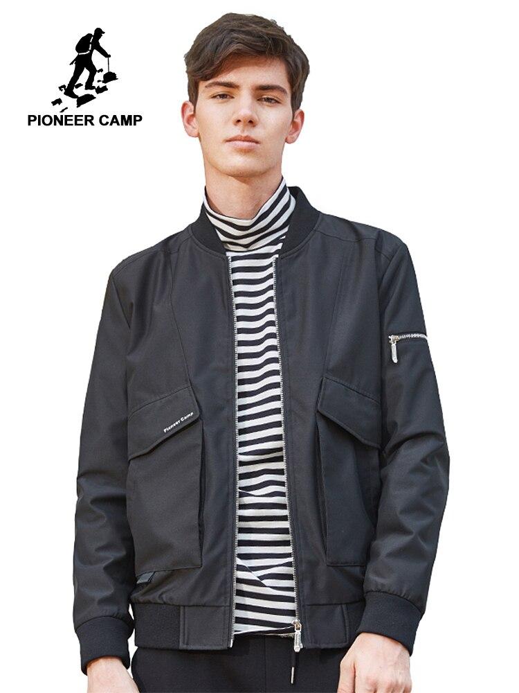 Pioneer Camp 2018 nouveauté automne veste hommes marque-vêtements simple décontracté manteau mâle qualité coupe-vent vêtements d'extérieur AJK705136