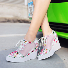 2016 new platform sandals Retro Style Shoes Women wedges high Heels Casual Party wedding Shoes Women 3 Colors size 34-43
