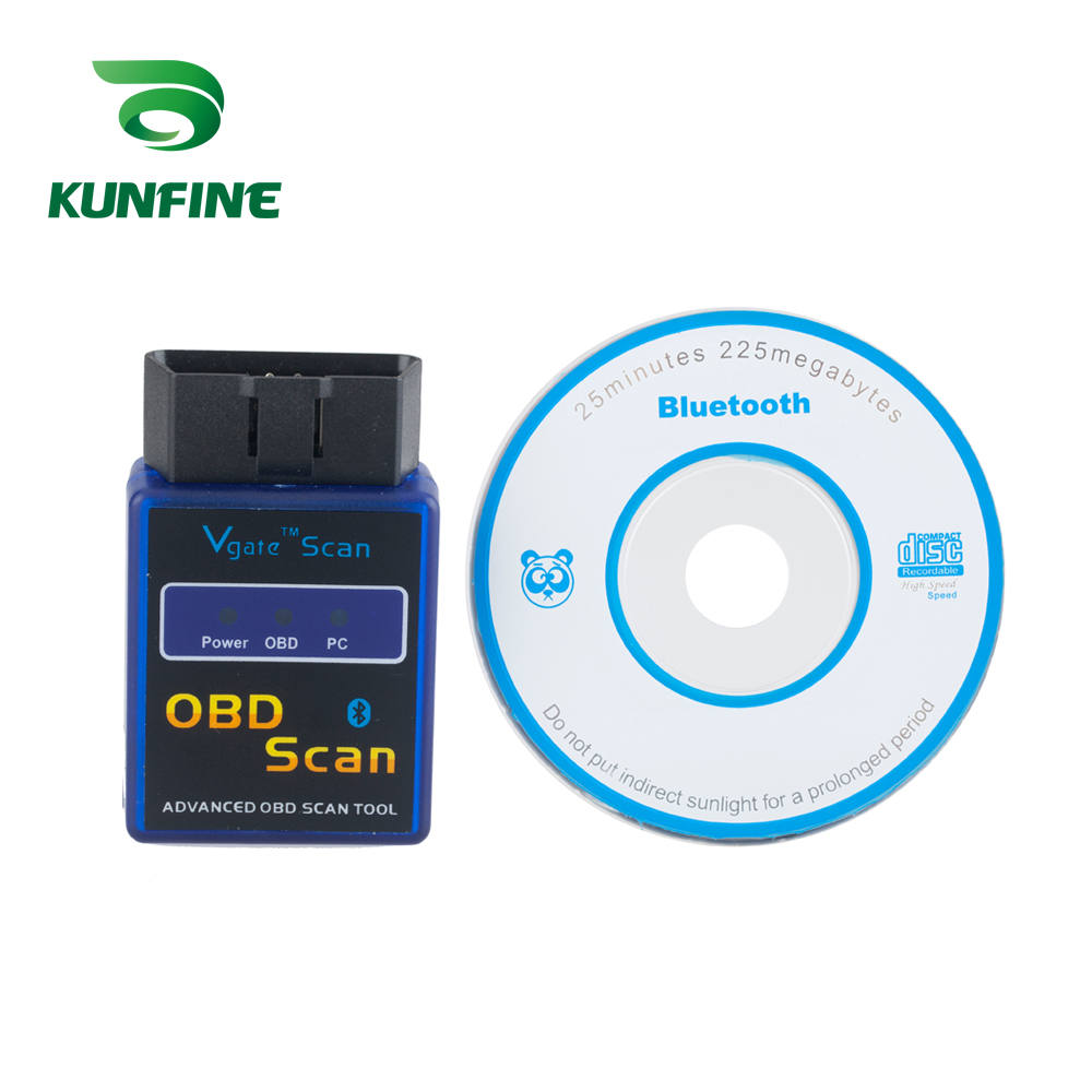 KUNFINE <font><b>OBD</b></font> <font><b>II</b></font> Vgate Scan <font><b>ELM327</b></font> <font><b>Bluetooth</b></font> Auto-detektor ULME 327 Diagnose-tool <font><b>OBD</b></font> OBD2 scanner auto <font><b>Adapter</b></font> diagnose Tool image