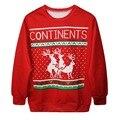 Christmas Costume Woman Sweatshirt Digital Print Shirt Pullover Hoodie Jumper Plus Size Outwear Tops