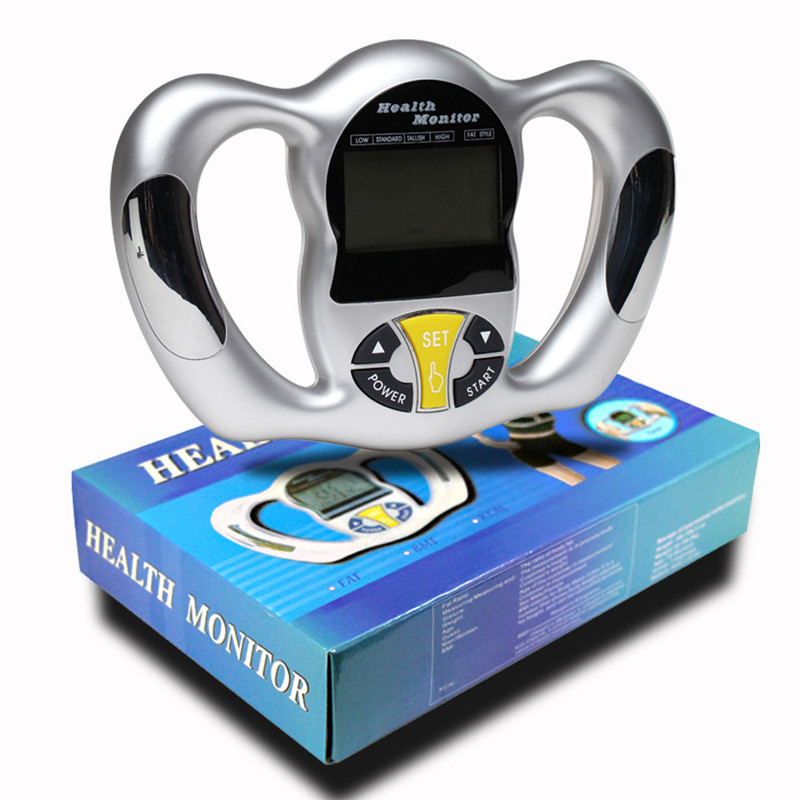 Handheld Body Fat Tester Health Analyzer Fat Meter Digital LCD FAT BMI KCAL Monitor Detection