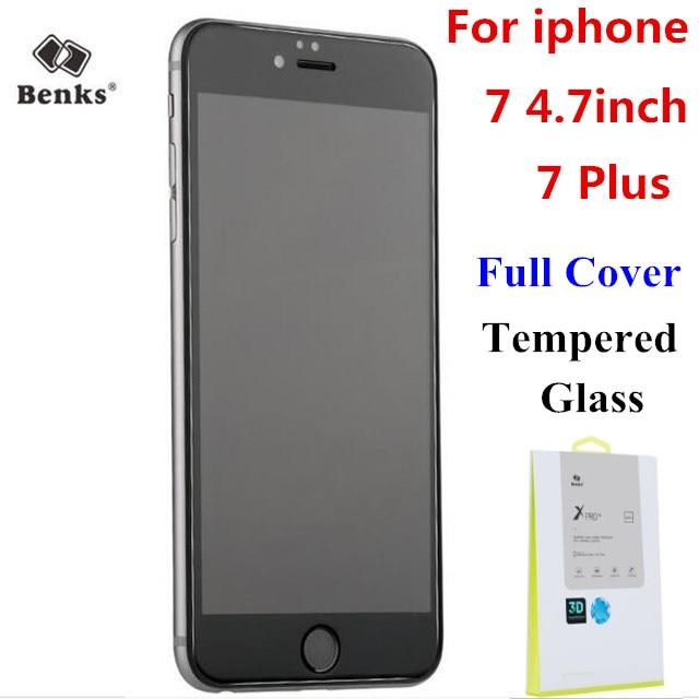 imágenes para Original benks xpro + zafiro recubrimiento 3d completo cubierto de vidrio templado protector de pantalla de cine para apple iphone 7/7 plus
