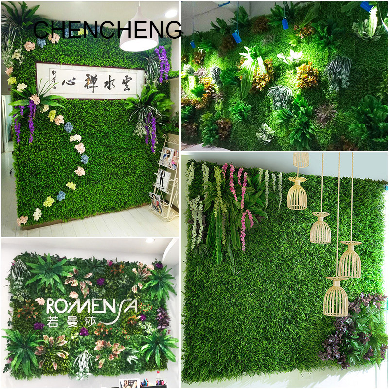 40*60cm Artificial Plant Simulation Plant Wall Lawn Milan Eucalyptus Grass Plastic Fake Lawn Green Plant Wall Door Decoration