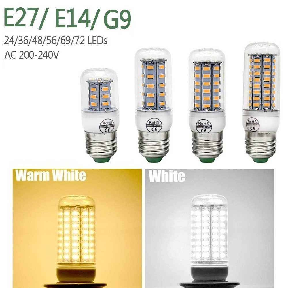 Light Bulbs E27 Led Candle Lamp E14 Led Bulb Corn Lamp Gu10 220v Light Bulb Smd5730 Bombillas 24 36 48 56 69 72leds Energy Saving Light 230v Terrific Value