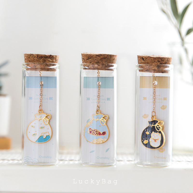 Cute Lucky Bag Theme Metal Bookmark 2.8*8.3cm Lovely Stationery Free Shipping