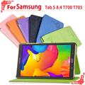 """high quality Pu Leather Case For Samsung Galaxy Tab S T700 T705 8.4""""tablet pc T700 T705 case"""