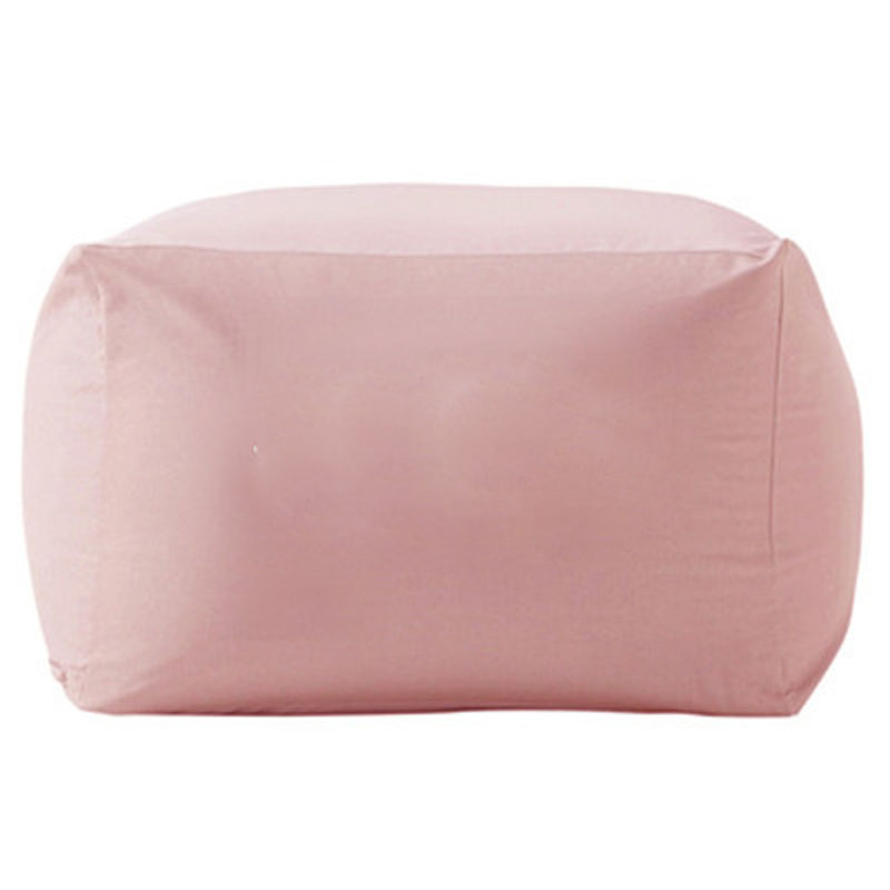 Pink Color Home Living Room Bead Bag Cover Lazy Sofa Plain Canvas Bean