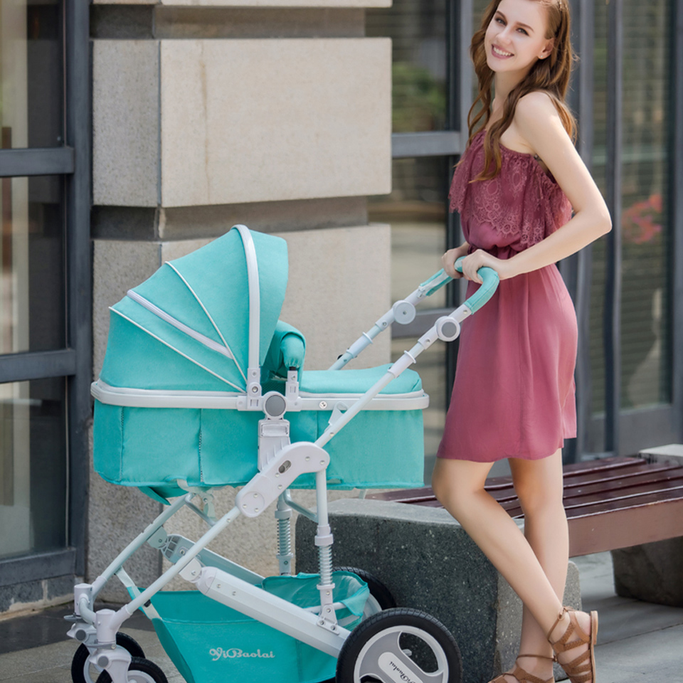 Newborn Baby Stroller 2 in 1 High Views Pram Foldable Baby Travel System Folding Carriage Carrinho-de-bebe 3 / 2 em 1 Cochecito hot hot sale baby stroller travel system baby wholesale and retail modern stroller red and green color pram is pneumatic tyre