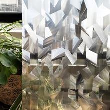 CottonColors Irregular PVC Impermeable Cubierta de la Ventana de Películas, No-Pegamento Estática 3D Decorativo Privacy Glass Window Sticker 45×200 cm