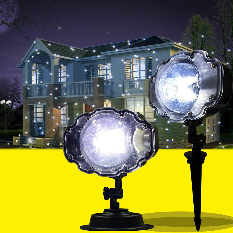 Snowfall Projector IP65 Moving Snow Outdoor Garden Laser Projector Lamp Christmas Snowflake Laser Light For New Year Party Light ip65 moving snow outdoor garden laser projector lamps outdoor snowfall laser light christmas garden landscape spotlight